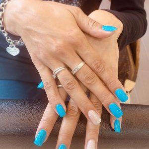 blue cnd shellac nails 2