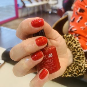 red cnd shellac nails 2