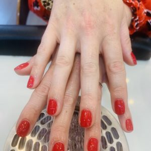 red cnd shellac nails 3