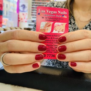 Red Shellac Nails Design 29072