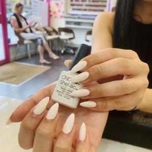 Studio White Shellac Nails Design